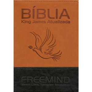 Bíblia KJA Freemind com Estudo do Dr. Augusto Cury - Capa LUXO PRETA